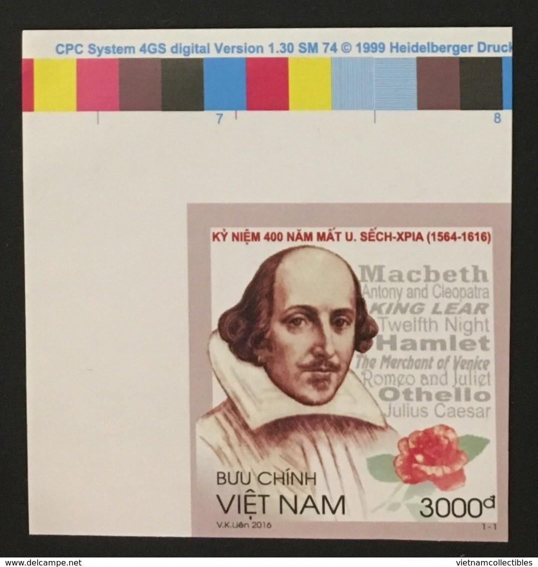 Vietnam Viet Nam MNH Imperf Stamp 2016 : 400th Death Anniversary Of William Shakespeare (Ms1067) - Vietnam