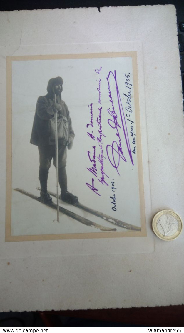 Rarissime Expédition  Charcot Pôle Antarctique Photo Dédicacée Par Le Paul Pleneau 1904 - Photographs