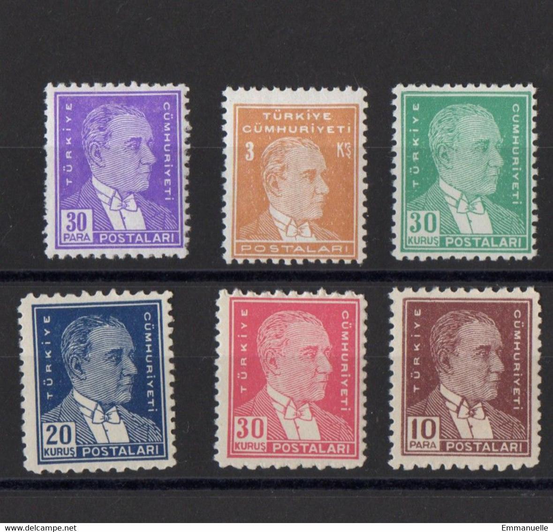 1936 - 1955 Atatürk Stamps MNH** - Unused Stamps