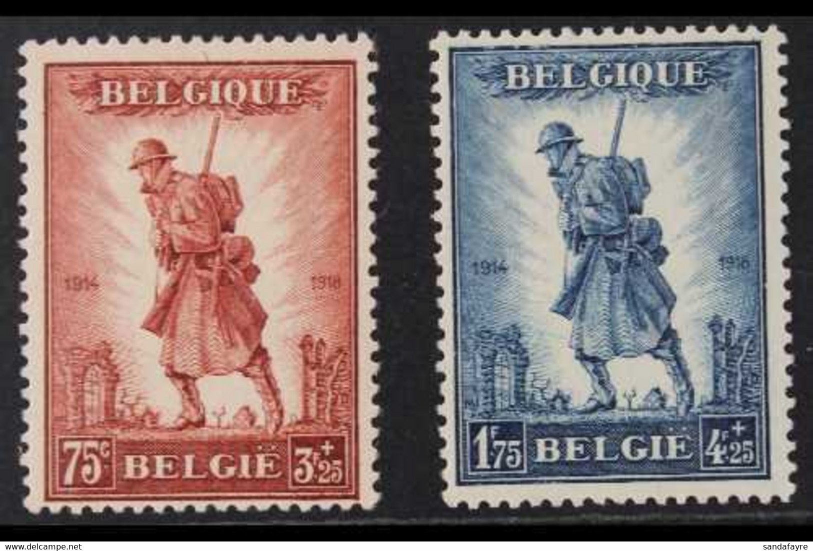 1932 Infantry Memorial Set, Cob 351/52, SG 618/19, Never Hinged Mint (2 Stamps) For More Images, Please Visit Http://www - Zonder Classificatie
