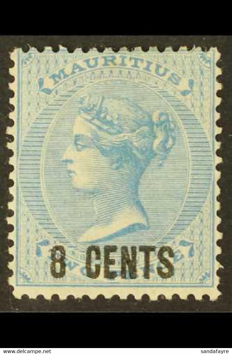 1878 8c On 2d Blue, CC Wmk, SG 85, Fine Mint For More Images, Please Visit Http://www.sandafayre.com/itemdetails.aspx?s= - Maurice (...-1967)