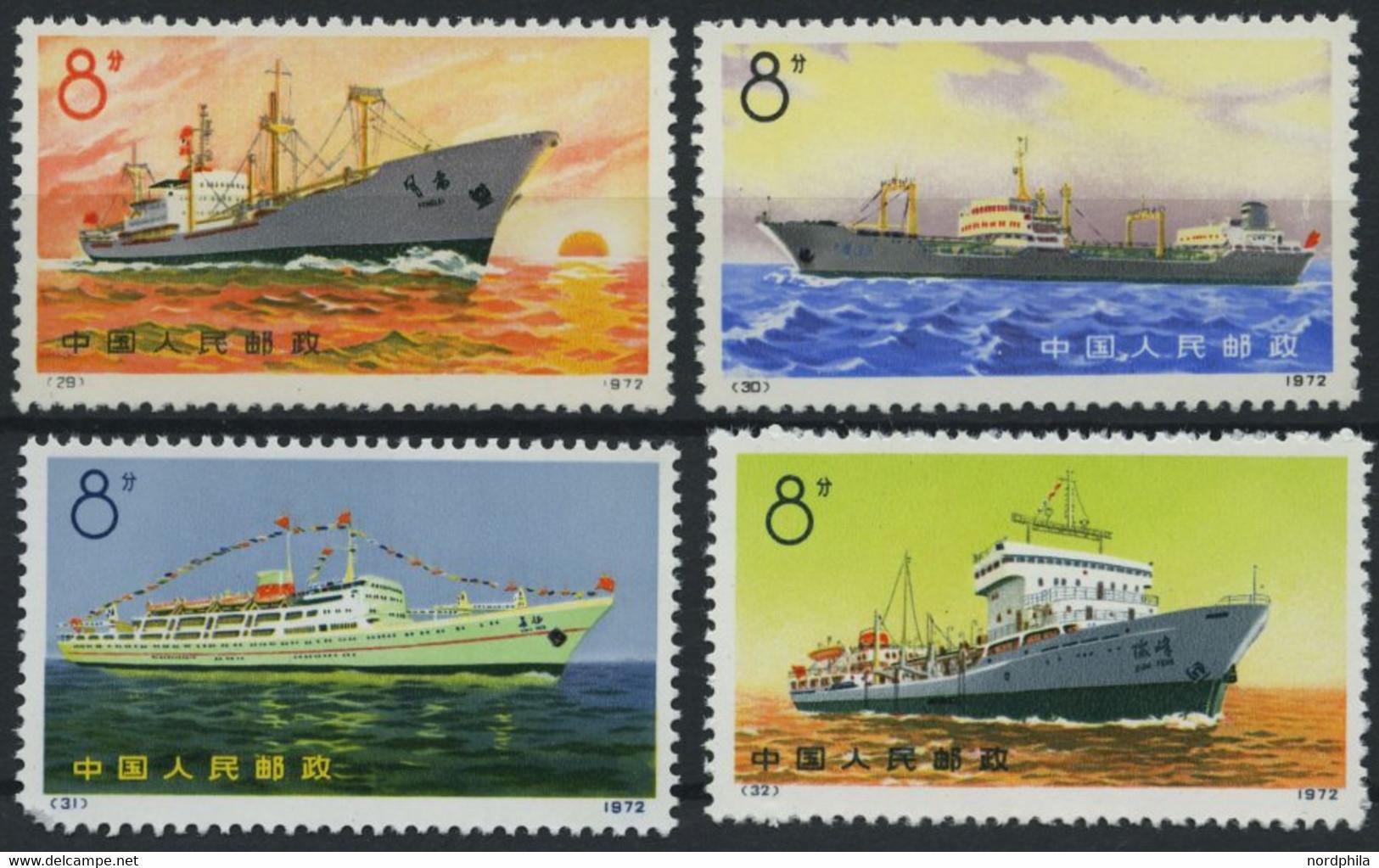 CHINA - VOLKSREPUBLIK 1113-16 (*), 1972, Handelsschiffe Der Volksrepublik China, Wie Verausgabt Ohne Gummi, Mi.Nr. 1115  - Unused Stamps
