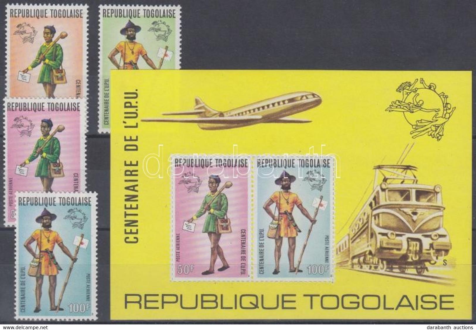 ** 1974 100 éves Az UPU: Régi Postásegyenruhák Sor Mi 1035 A - 1038 A + Blokk Mi 84 C - Unclassified