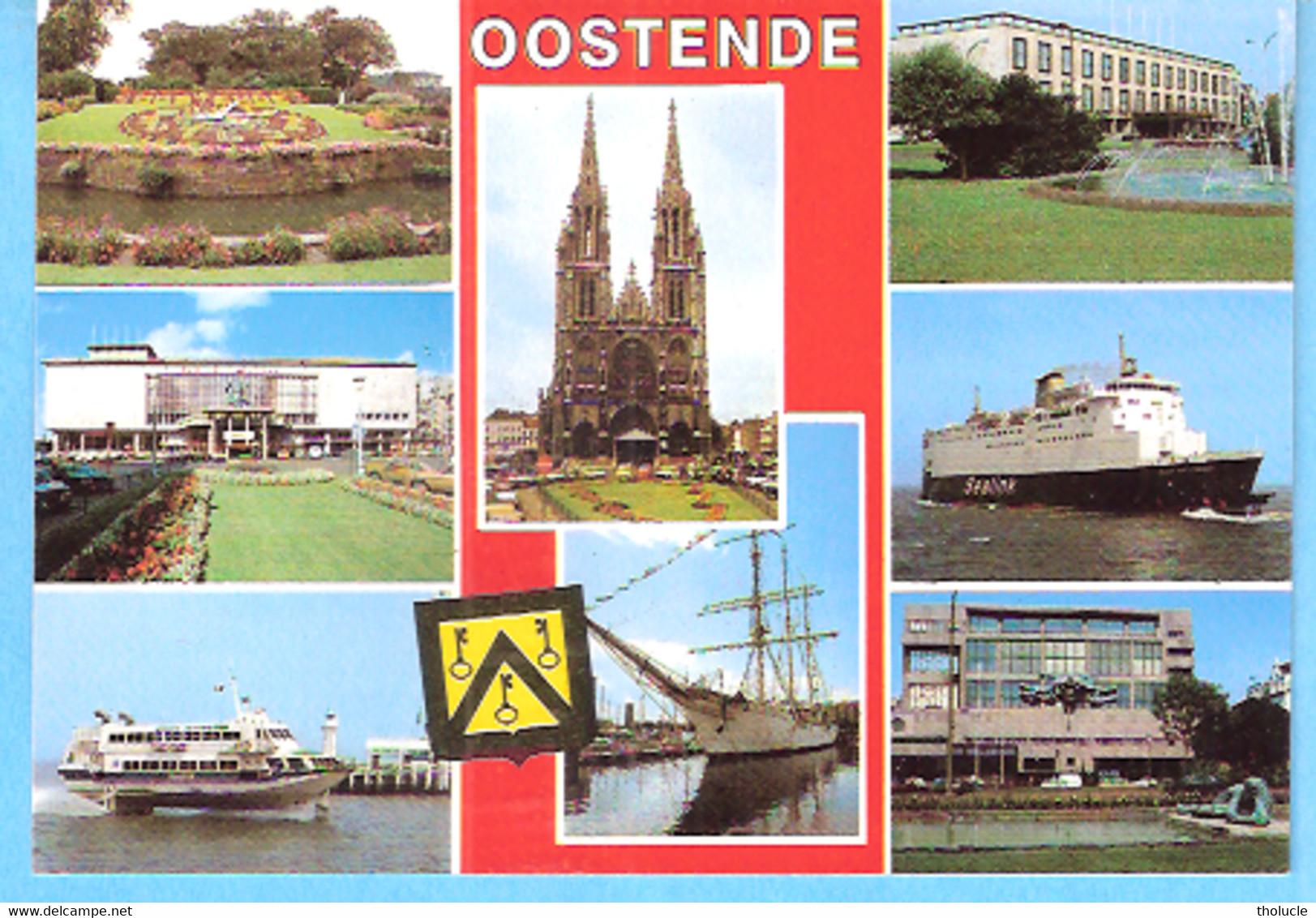 """Groeten Uit Oostende-Ostende-Multivues-Jetfoil & Ferry """"Sealink""""-Oostende-Dover-Zeevaartlijn-Mercator- - Oostende"""