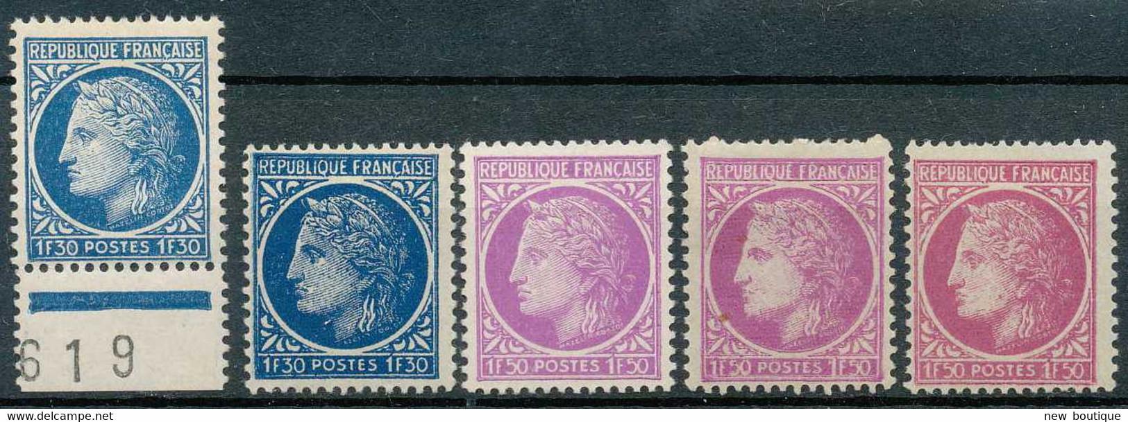 NB - [100266]TB//*/Mh-N° 678/79, En Diverses Très Belles Nuances - 1945-47 Ceres De Mazelin