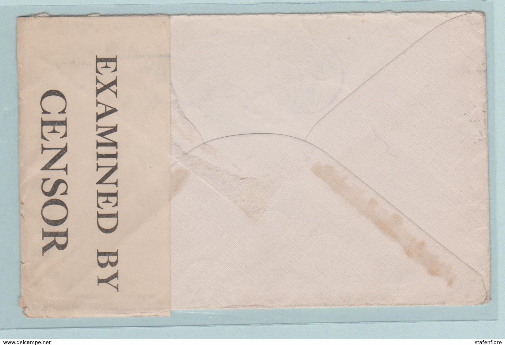 Militaire Post Met Censuur Van Winnipeg Canada Naar Liège (Belgique) - Covers & Documents