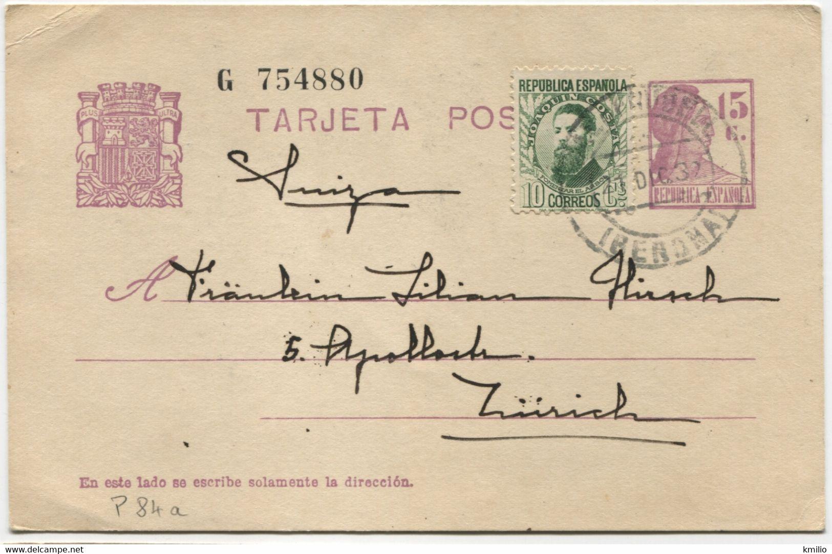 1932 EP69 De Palafrugell A Zurich - 1850-1931