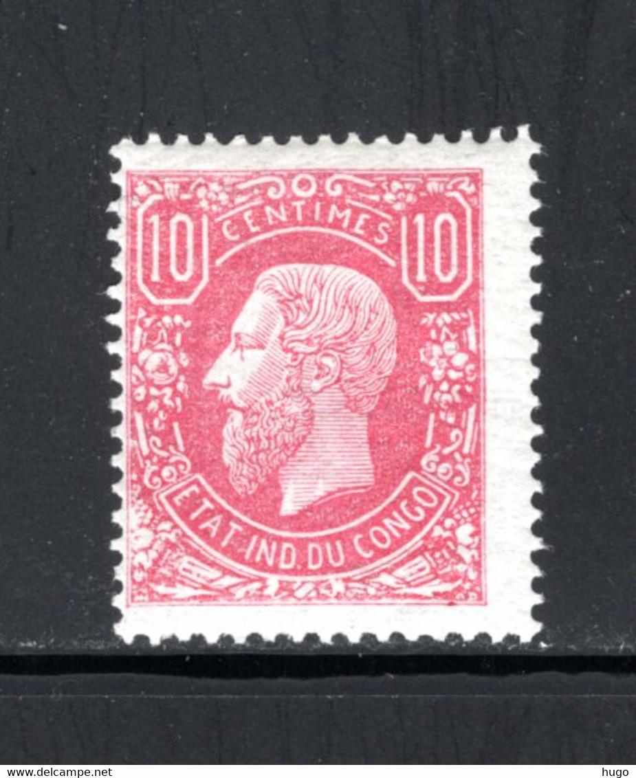 BEL. CONGO 2 MNH 1886 - Leopold II In Profiel Naar Links - 1884-1894 Precursors & Leopold II