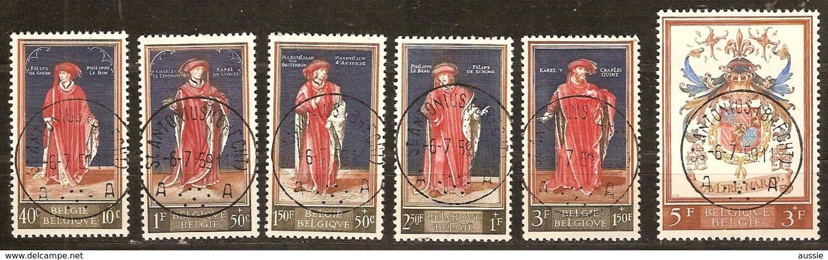 Belgie Belgique 1959 Ocbnr. 1102-1107 (°)  Oblitéré Used Cote 10,95 Euro - Usados