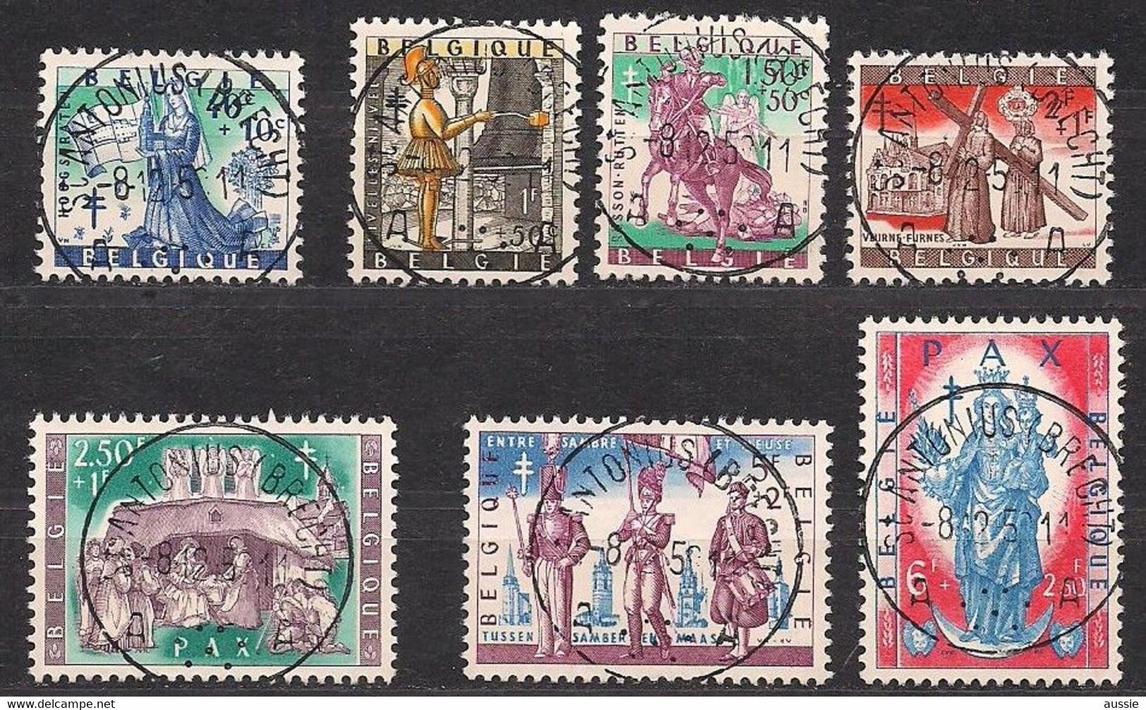 Belgie Belgique 1958 OCBn° 1082-1088 (°) Oblitéré Used Cote 9,00 Euro Folklore II - Usados