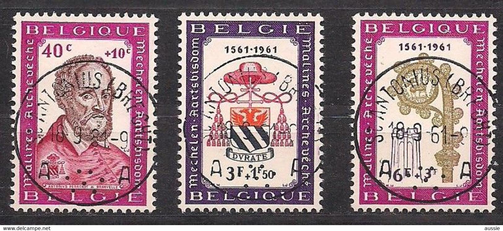 Belgie Belgique 1961 OCBn° 1188-1190 (°) Oblitéré Used Cote 2,25 € - Usados