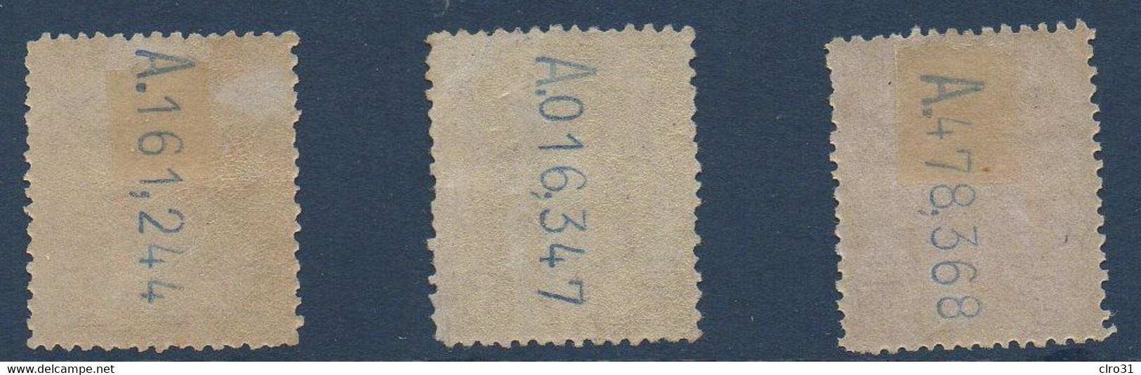 ESP 1901/05  Effigie Alphonse XIII N°YT 212-213-214 MH - Nuevos