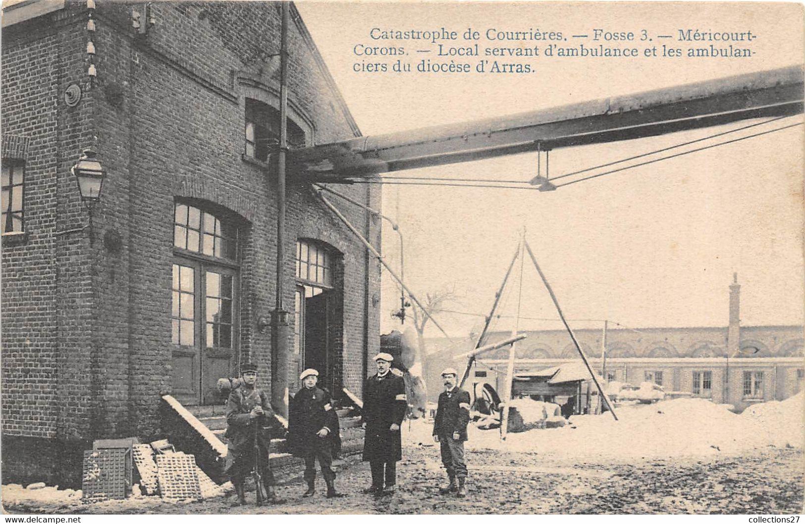 62-COURRIERES-CATASTROPHE DE COURRIERES, FOSSE 3- MERICOURT- CORONS, LOCAL SERVANT D'AMBULANCE ... - Andere Gemeenten