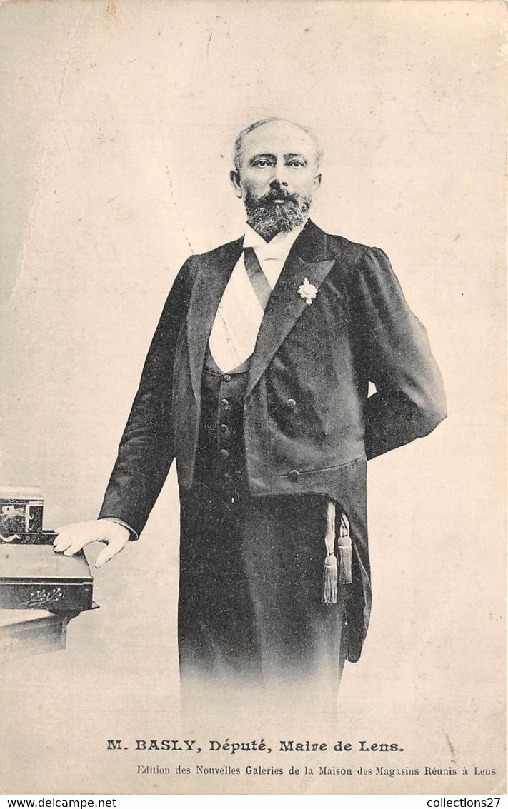 62-LENS- M. BASLY- DEPUTE MAIRE DE LENS - Lens