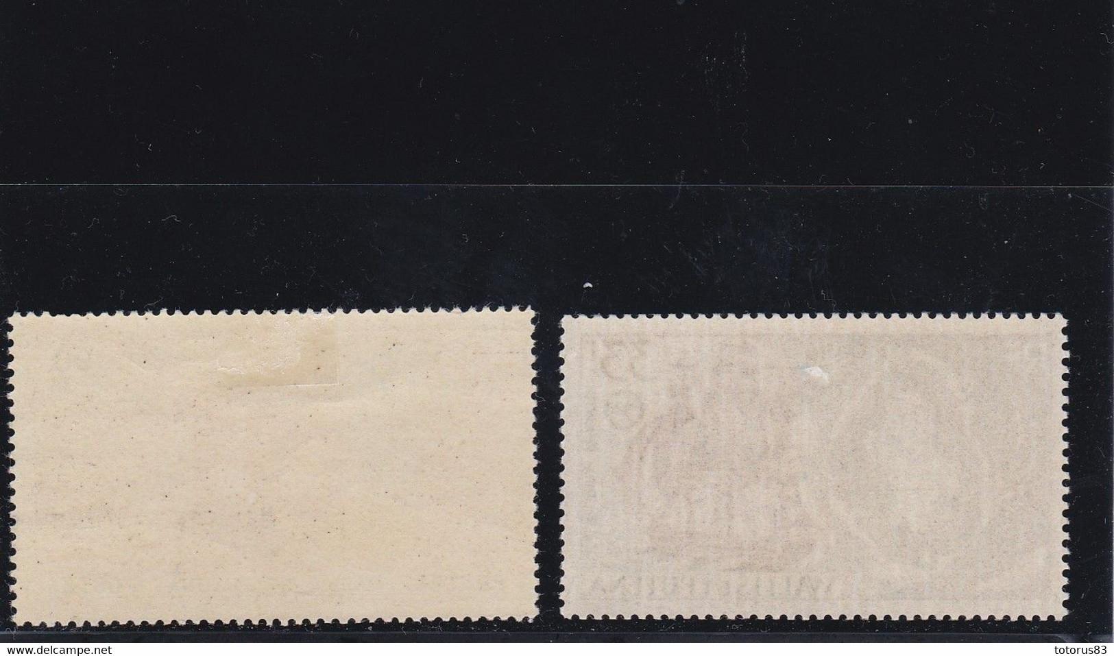 Timbre Wallis N°74 & PA N°17 Charnière* Légère Marque - Zonder Classificatie