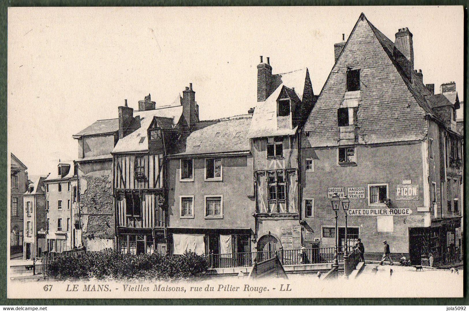 72 - LE MANS - Vieilles Maisons Rue Du Pilier Rouge - Le Mans