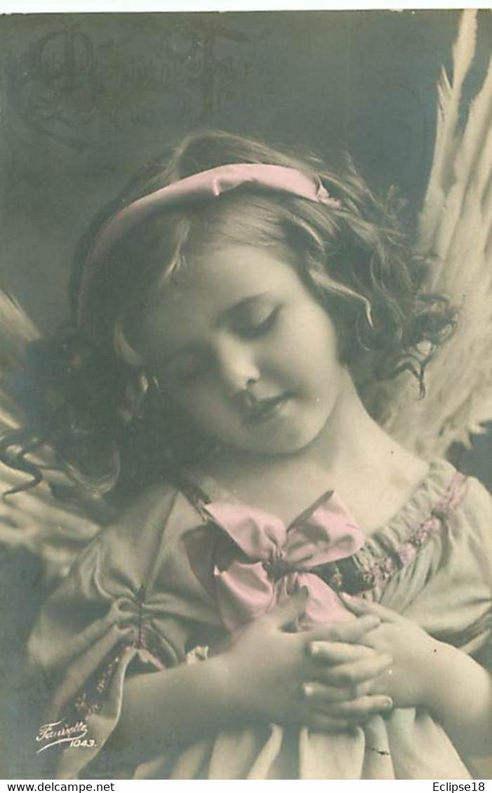 Lot De 5 Cartes - Reserver  - Jolie Portrait Fillette Ange    T 1363 - Retratos