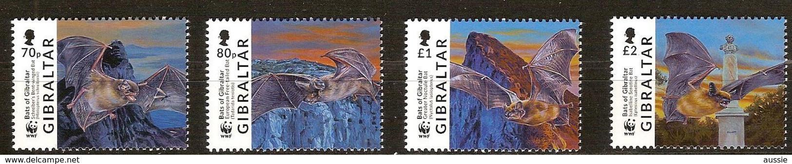 Gibraltar 2017 Micheln° 1832-1835 *** MNH  Faune WWF Bats Vleermuizen - Ungebraucht