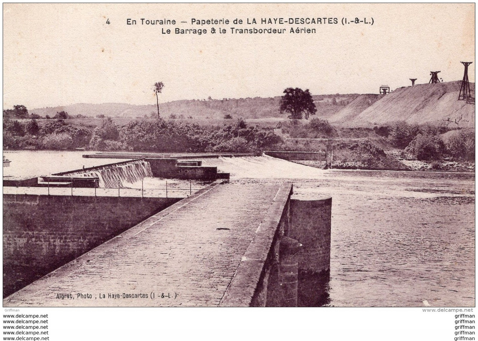 PAPETERIE DE LA HAYE DESCARTES LE BARRAGE ET LE TRANSBORDEUR AERIEN TBE - Other Municipalities