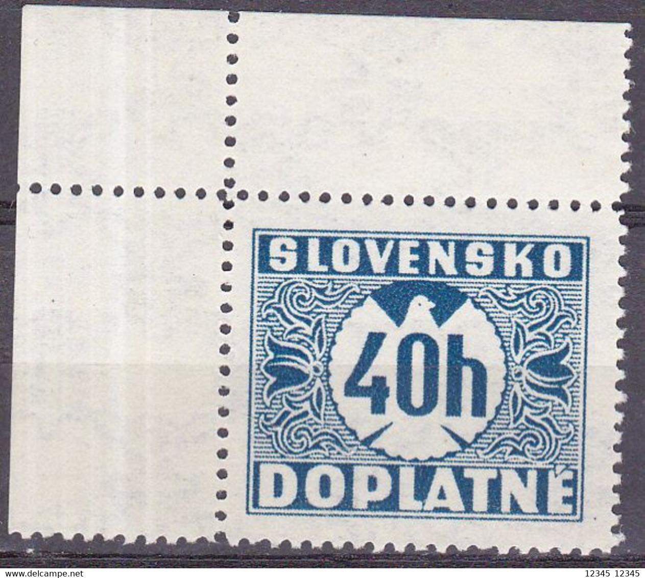 Slowakije1940-41, Postfris MNH, Port Stamps - Nuevos