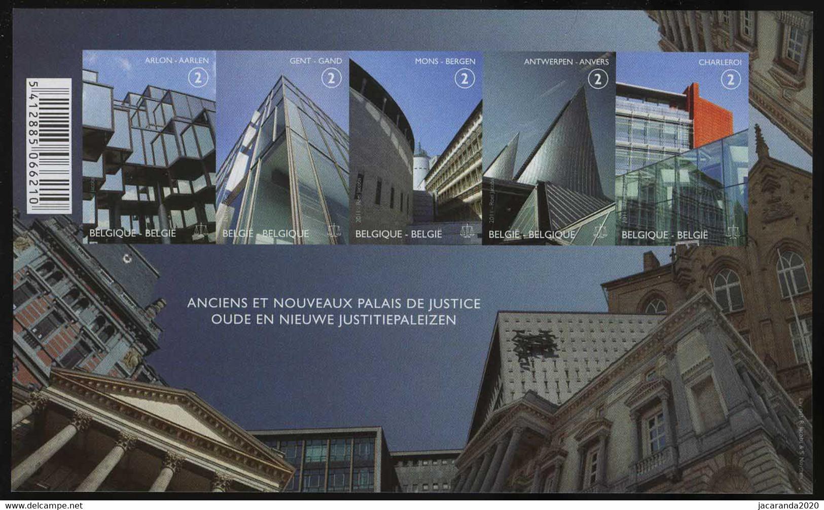 België GCD 8 - 2011 - Justitiepalezien - Palais De Justice - (BL191) - Zwarte/witte Blaadjes