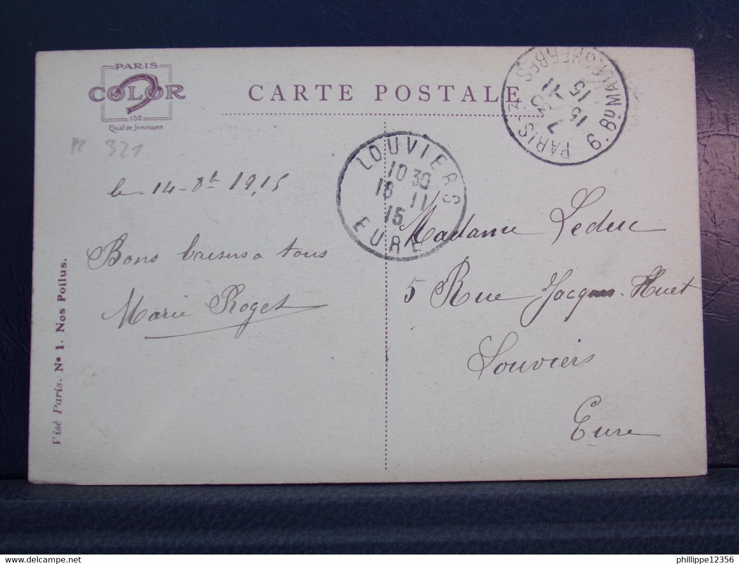321 . MILITARIA . LA BASSEE . EM. DUPUIS . SOLDAT AVEC PIPE . 1915 - Guerra 1914-18
