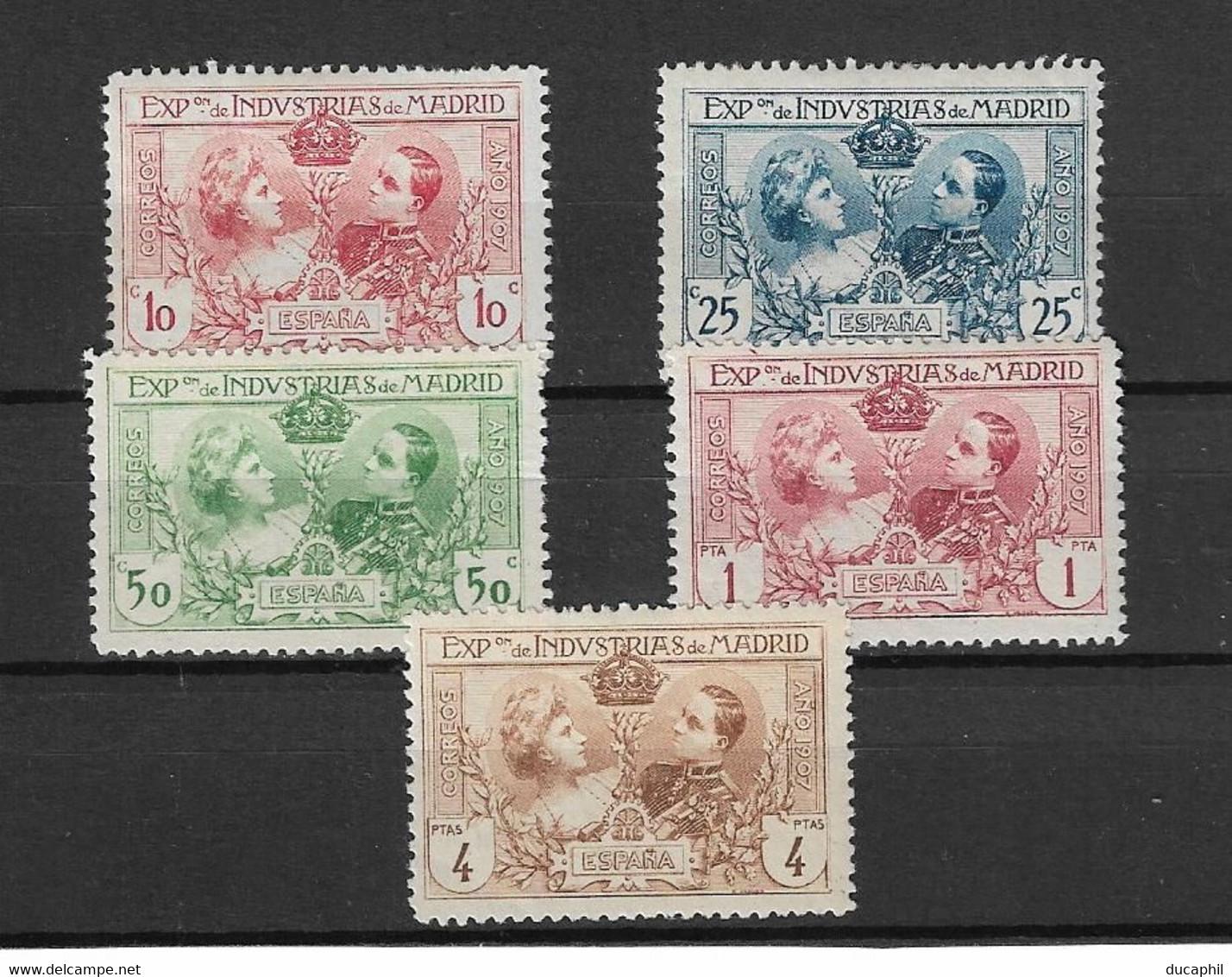 Espagne 1907   Yvert&Tellier Neuf Avec Trace De Charnière - Ongebruikt