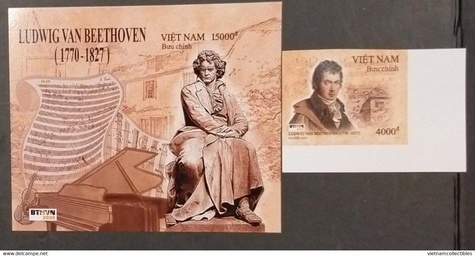 Vietnam Viet Nam MNH Imperf Stamp & Souvenir Sheet 2020 :250th Birth Ann. Of Ludwig Van Beethoven (Ms1139) - Vietnam