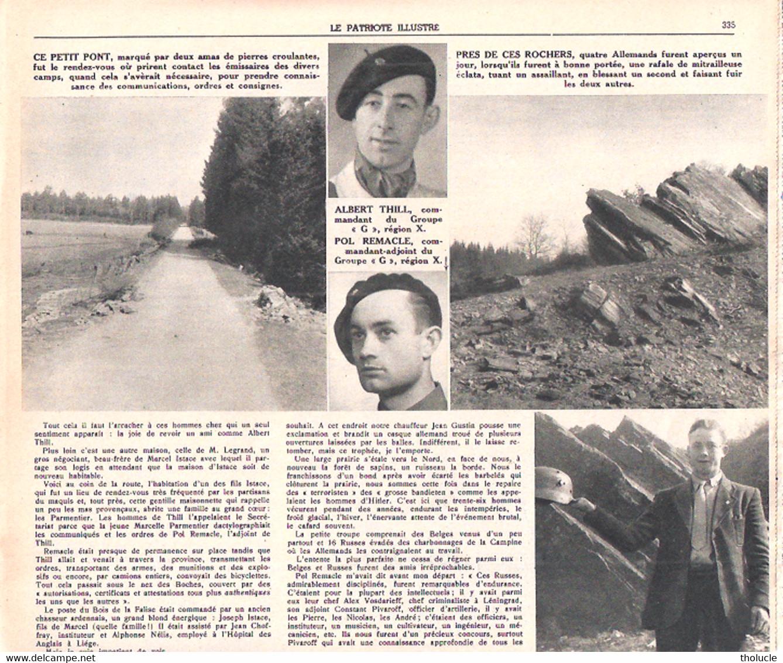 Baclain, Village Ardennais Haut Lieu De La Résistance-Groupe G-1944-Bovigny-Courtil-Gouvy-Vielsam-Patriote Illustré-1946 - 1900 - 1949