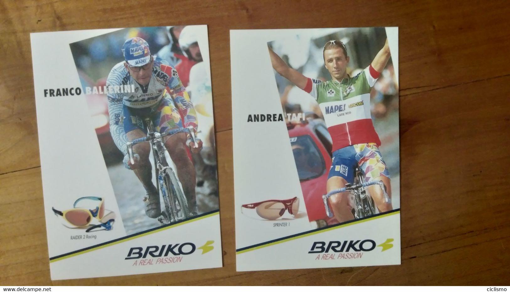 Cyclisme - Carte Publicitaire BRIKO : TAFI Et BALLERINI - Ciclismo