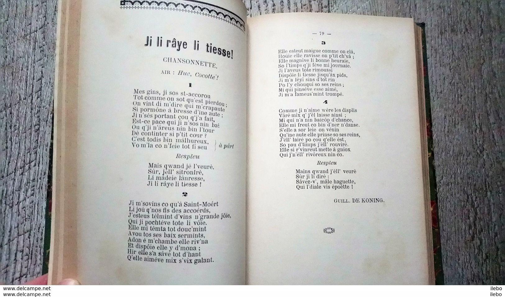 Le Caveau Liégeois Recueil Poésies Wallones Chansonnettes Monologues 1898 3 Annuaires Belgique Liège - Poetry