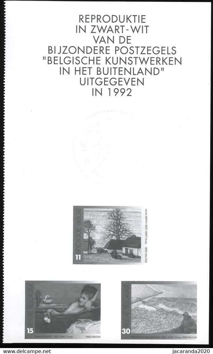 België ZNP 28 - 1996 - Belgische Kunstwerken - (2462/64) - NL - Zwarte/witte Blaadjes
