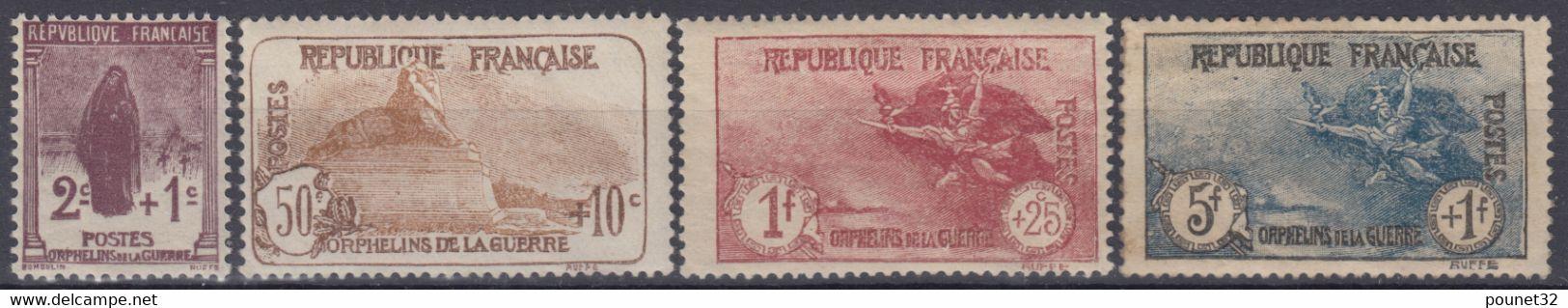 FRANCE : SERIE ORPHELIN N° 229/232 NEUVE * GOMME AVEC CHARNIERE - COTE 210 € - Ungebraucht