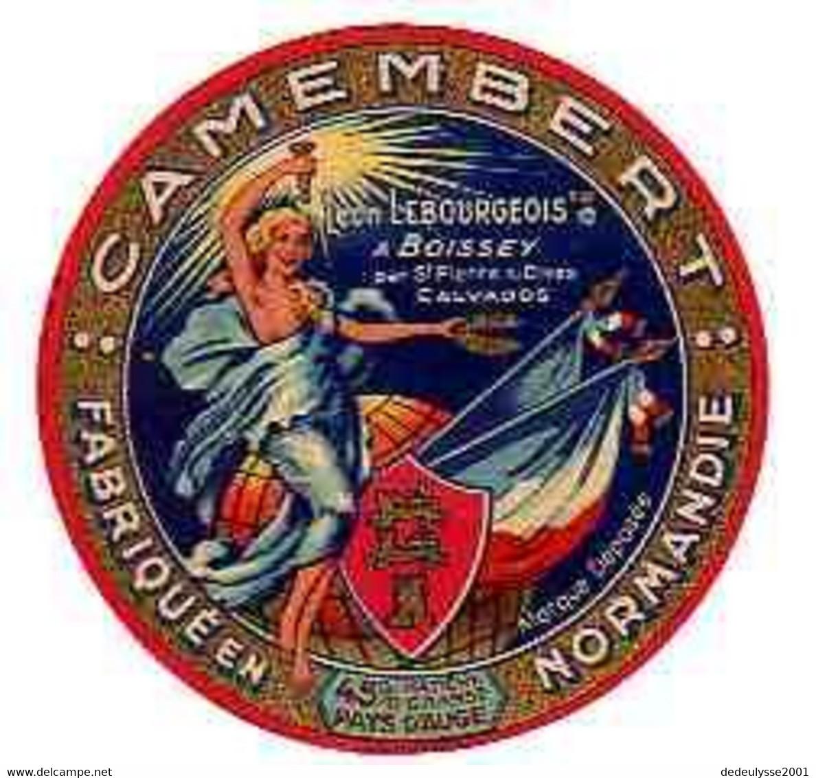 Mar21  14146    étiquette  Camembert  Léon Lebourgeois  à Boissey - Quesos