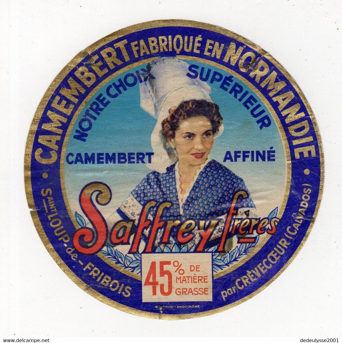 Mar21   14147    étiquette    Camembert   Saffrey Frères - Formaggio