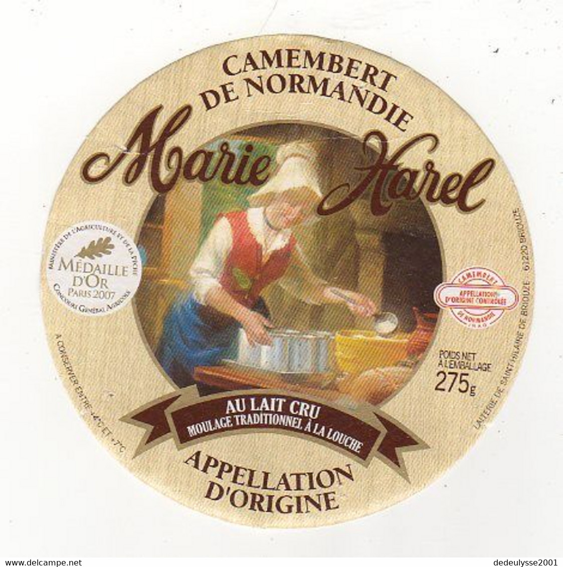 Mar21   612101    étiquette    Camembert   Marie Harel  2007 - Formaggio