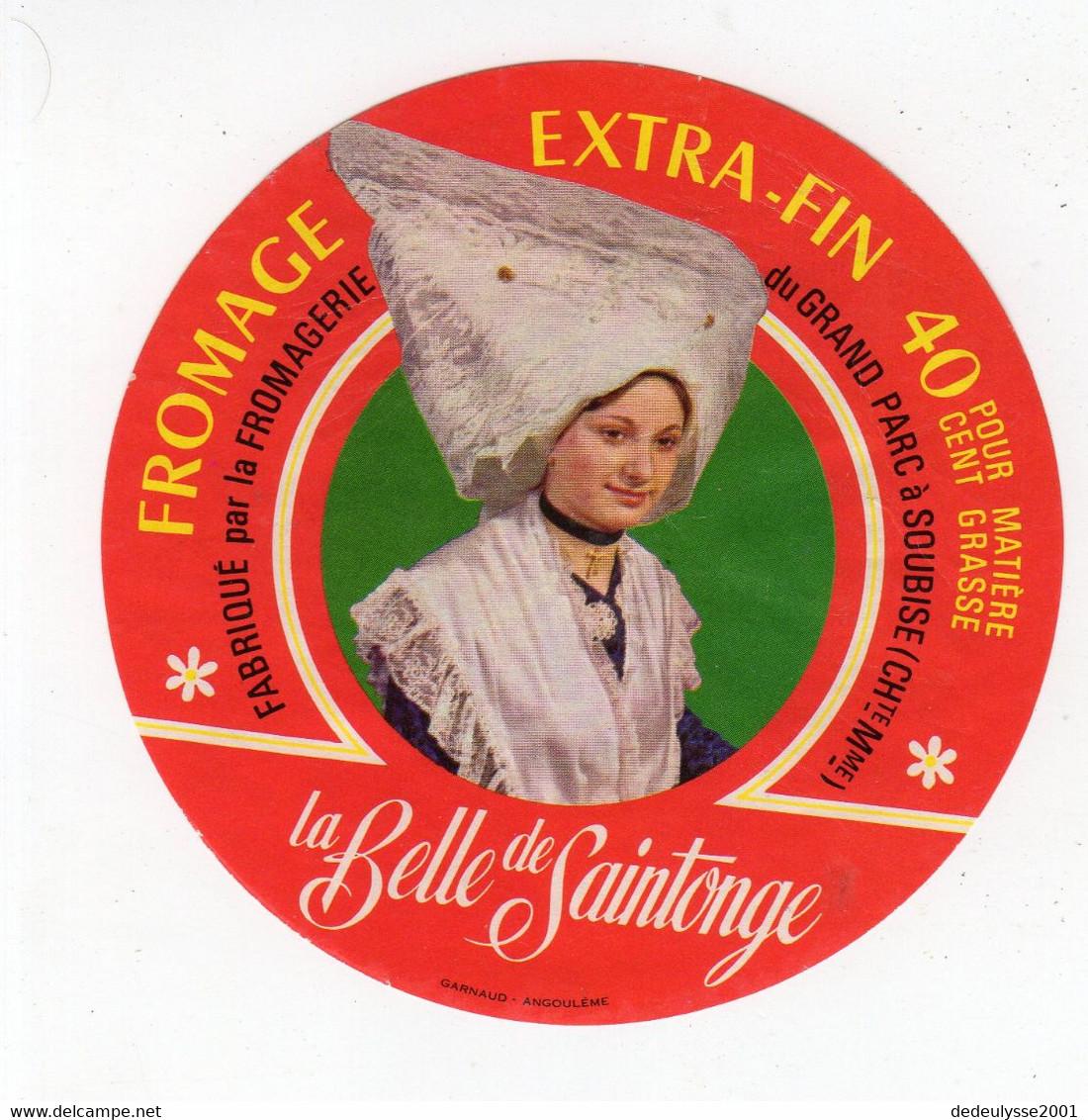 Mar21   17352 B     étiquette    Fromage   La Belle De Saintonge - Formaggio