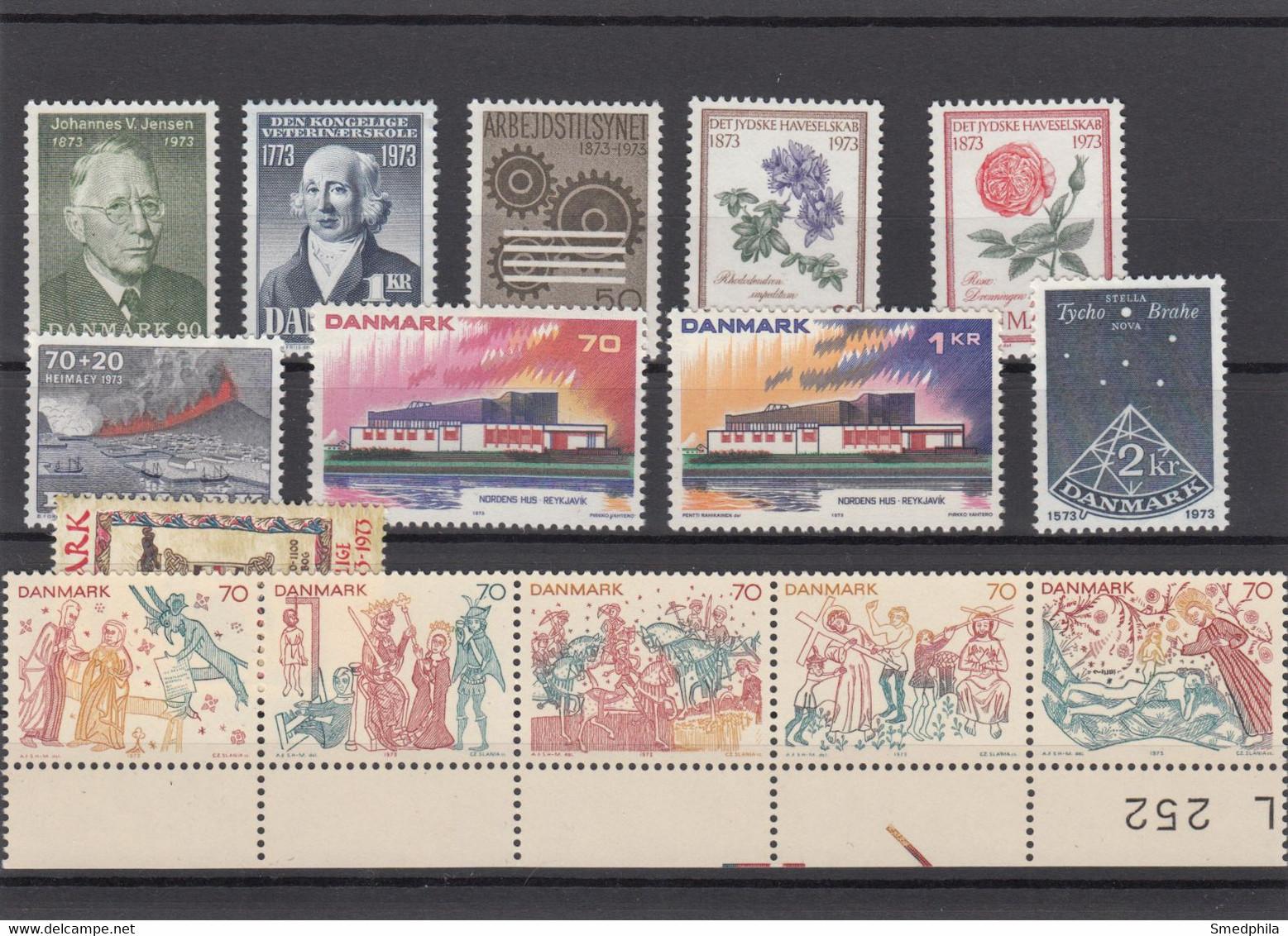 Denmark 1973 - Full Year MNH ** - Volledig Jaar