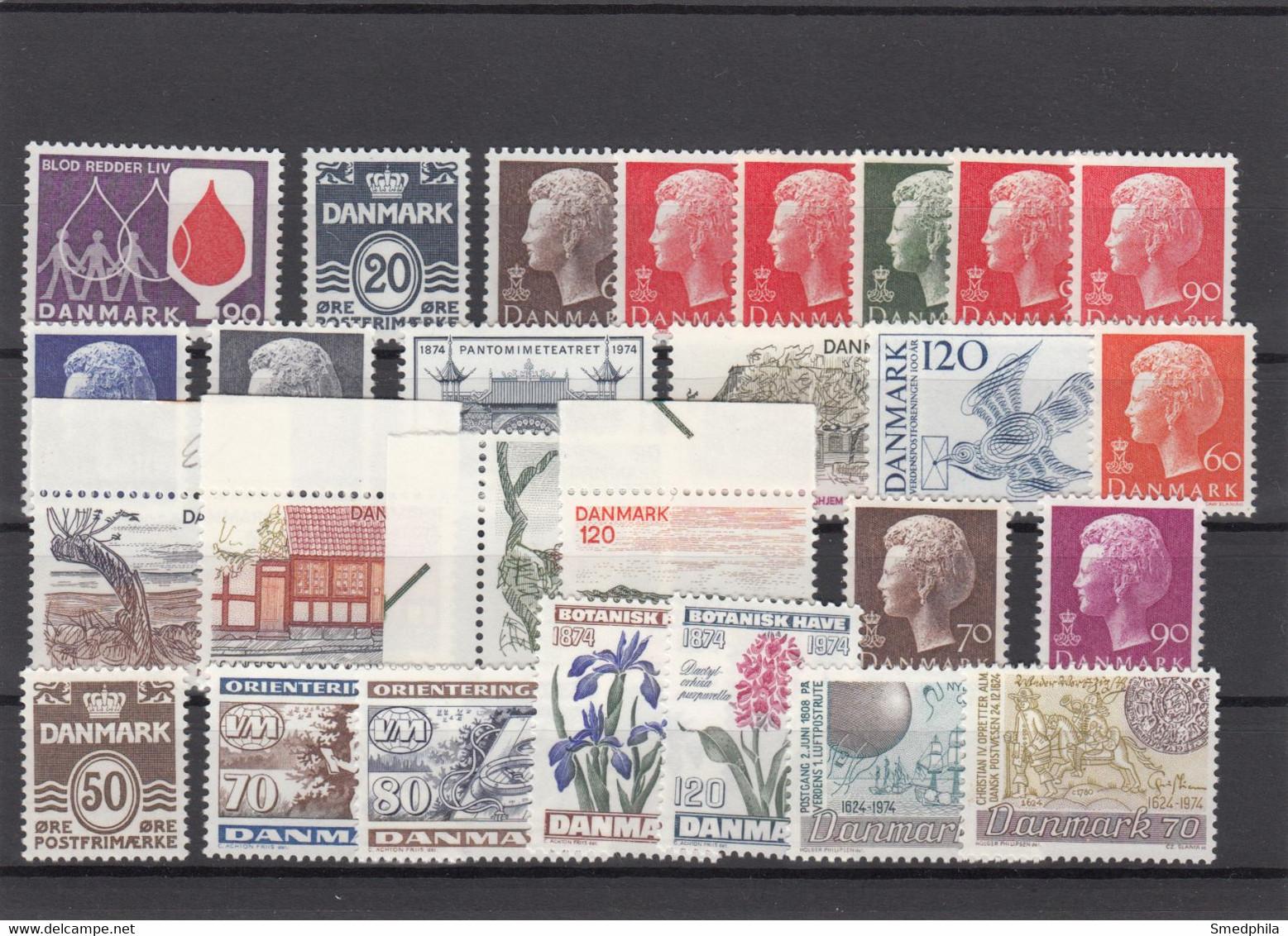 Denmark 1974 - Full Year MNH ** - Volledig Jaar