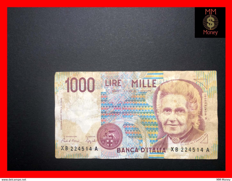 "ITALY 1000  1.000 Lire  12.11.1993  P. 114   ""replacement Serie XB""    F \ VF   [MM-Money] - 1000 Lire"