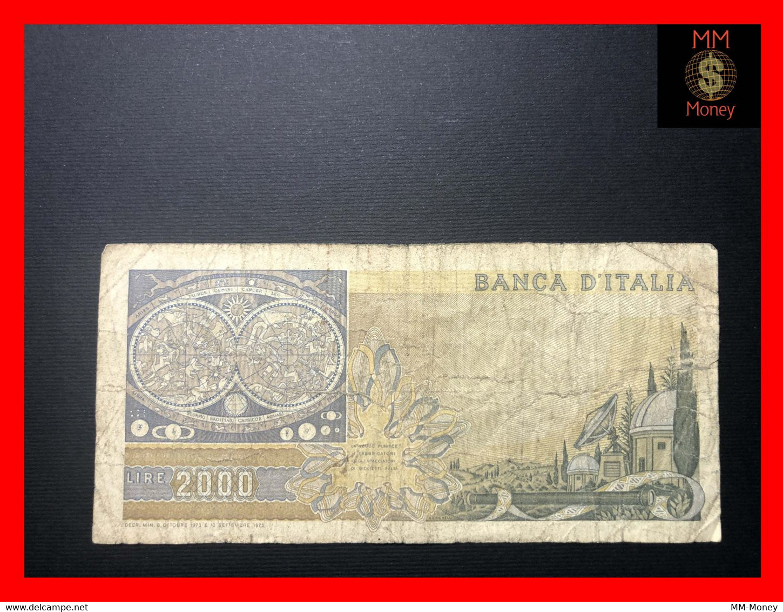 "ITALY 2000  2.000 Lire  8.10.1973  P. 103  ""replacement Serie XA""  Prefix A    Fine  *scarce Note*    [MM-Money] - 2000 Lire"