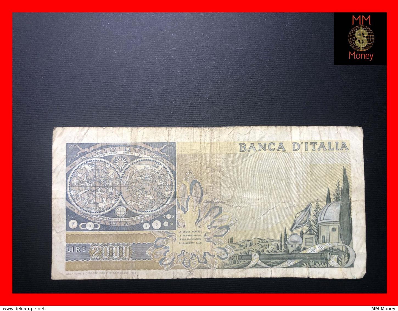 "ITALY 2000  2.000 Lire  8.10.1973  P. 103  ""replacement Serie XA""  Prefix B    Fine  *scarce Note*    [MM-Money] - 2.000 Lire"