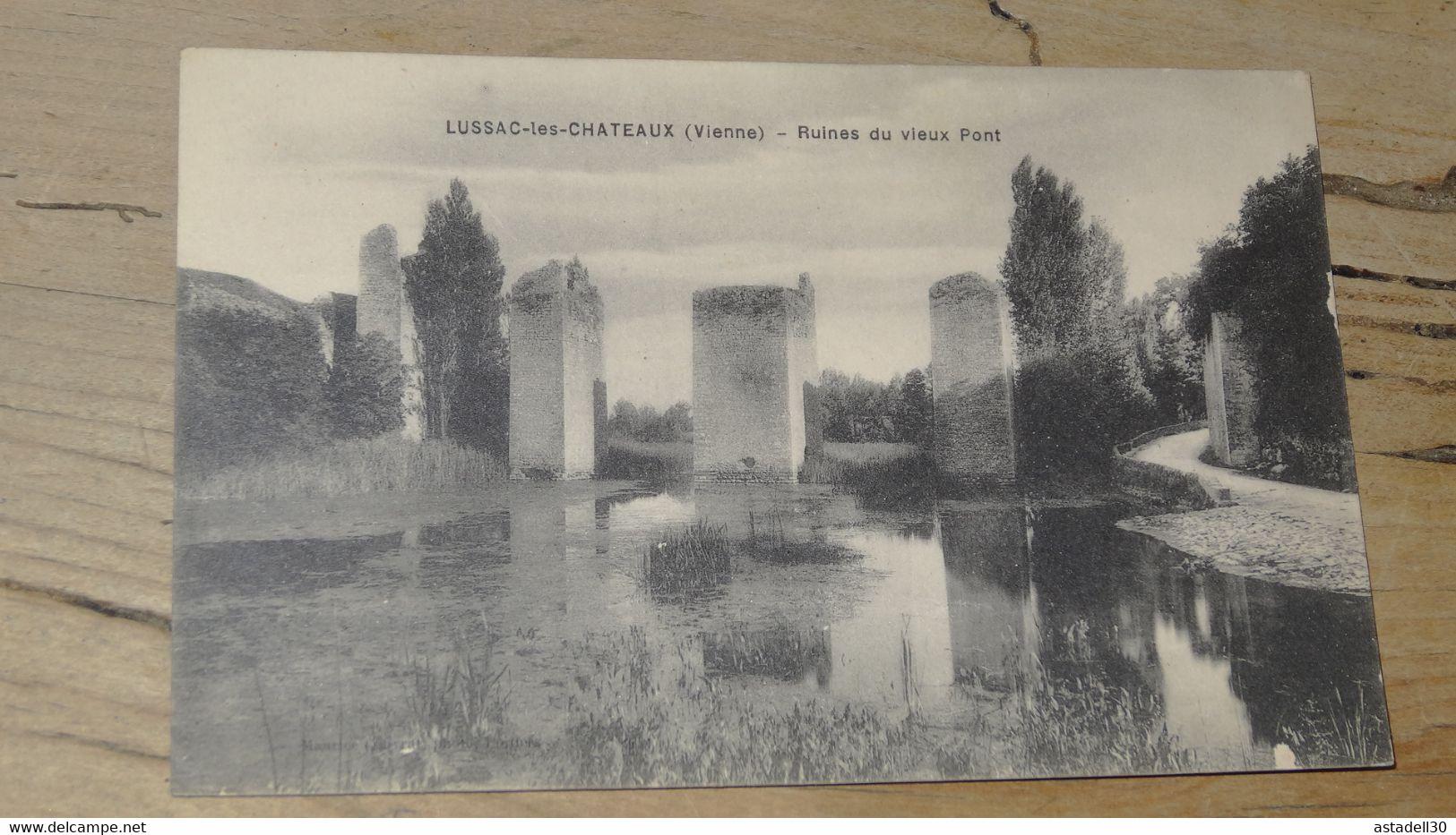 LUSSAC LES CHATEAUX : Ruines Du Vieux Pont ................ 201101b-2613 - Lussac Les Chateaux