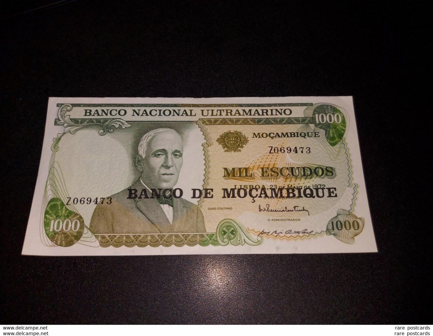 MOZAMBIQUE 1000 ESCUDOS 1972. AUNC - REPLACEMENT Z - Mozambico