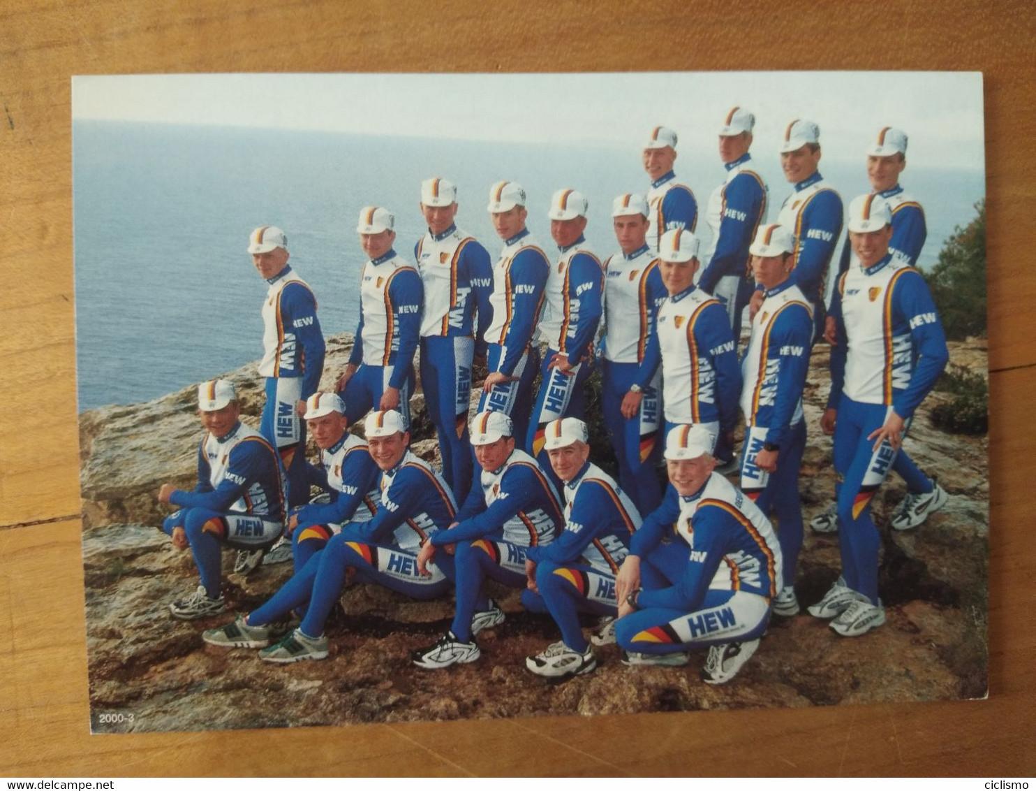 Cyclisme - Carte Publicitaire BDR : Le Groupe Sélection Allemande U23 2000 - Cycling