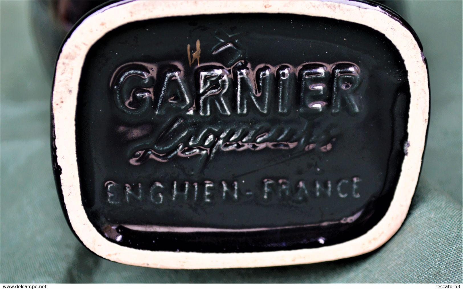 Rare Bouteille Liqueur De Collection Coq Marque Garnier à Enghien En Céramique - Spirits