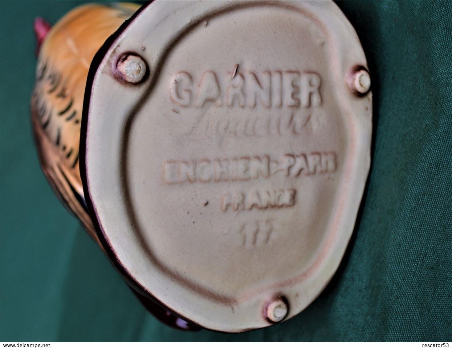 Rare Bouteille Liqueur De Collection Perdrix Garnier Enghien En Céramique - Spirits