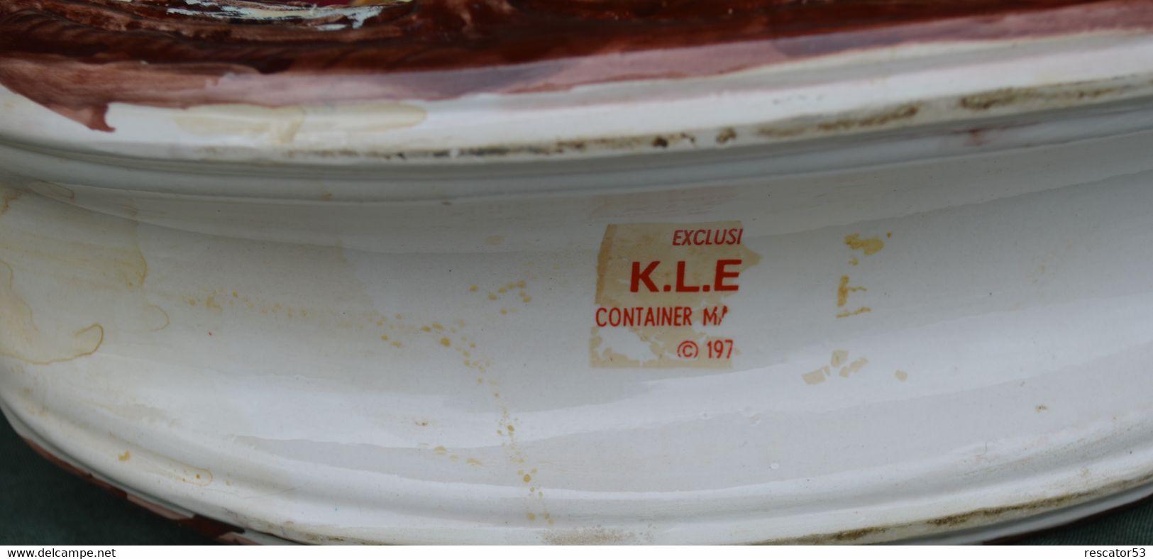 Rare Bouteille Liqueur De Collection Faisan KLEM  En Céramique - Spirits