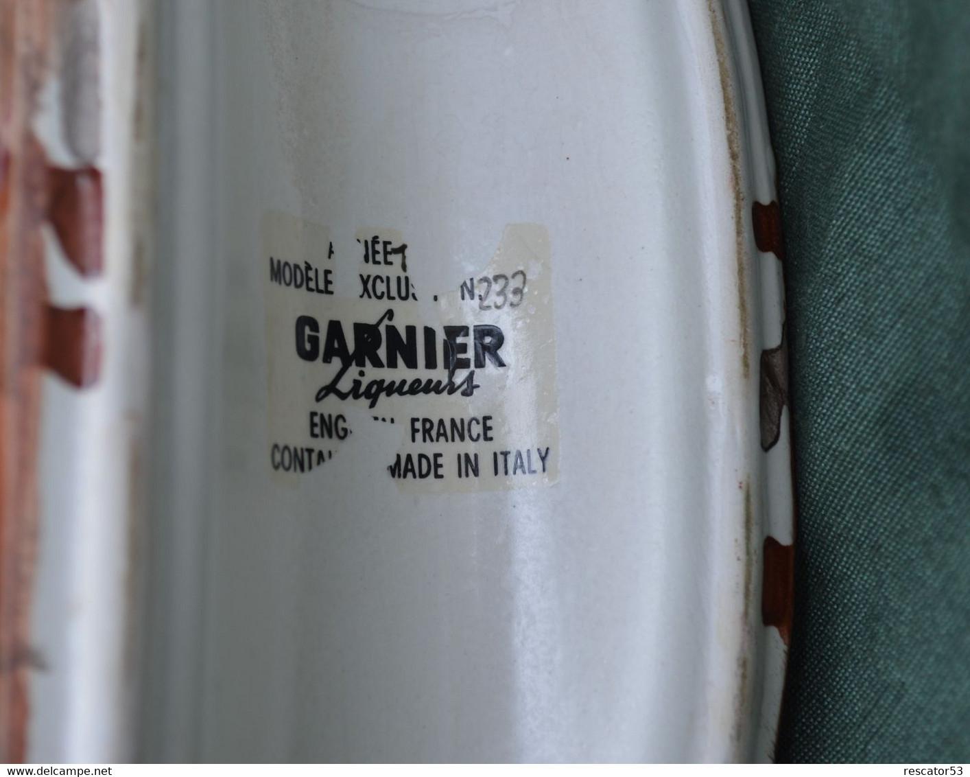 Rare Bouteille Liqueur De Collection Faisan Garnier Enghien N°233  En Céramique - Spiritueux