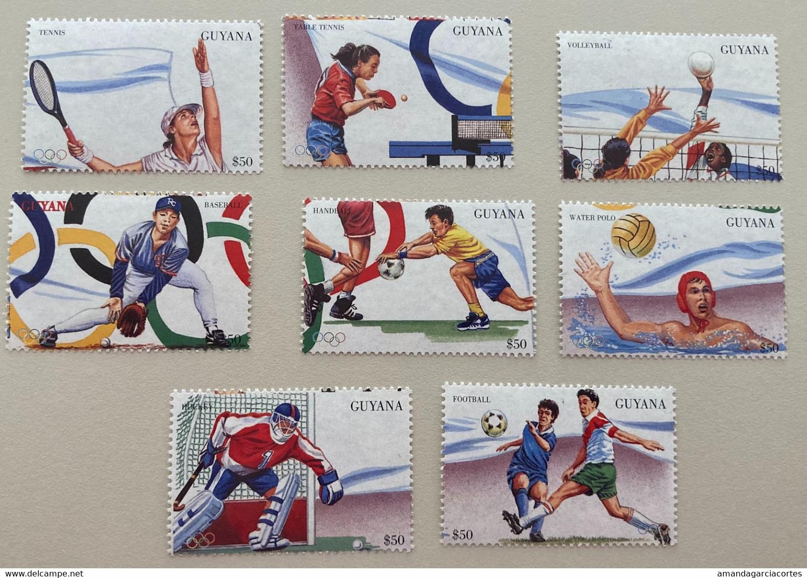 Guyana 1996 Olympic Games Handball Voleyball Football Hockey Tennis Baseball Waterpolo - Guyana (1966-...)